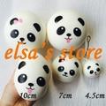 squishies 1 piece kawaii jumbo 10cm panda bun squishy slow rising squeeze kids toys charm bag pendant Free Shipping