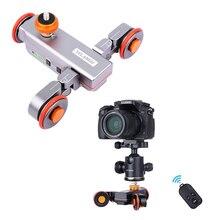 Yelangu L4 моторизованный пульт дистанционного управления Долли слайдер видео Электрический рельсовый трек слайдер для камеры DSLR Canon Nikon Gopro камера смартфона