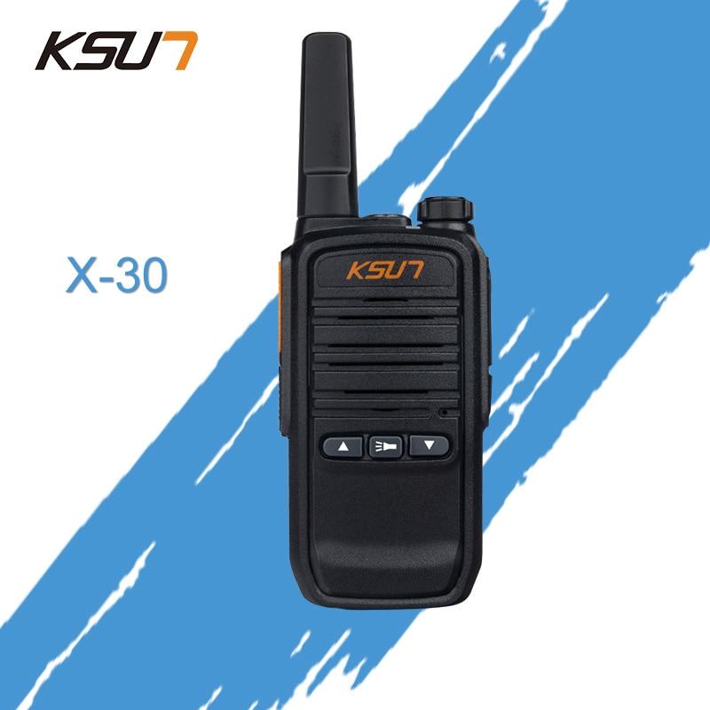 KSUN X-30 Mini Walkie Talkie Radio UHF 400-470MHz Two Way Radio Portable Communicador Handheld HF Transceiver