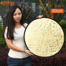 Godox 5 в 1 Портативный складной 60 см Камера Освещение фото диск Отражатели диффузор комплект чехол фотографии оборудования