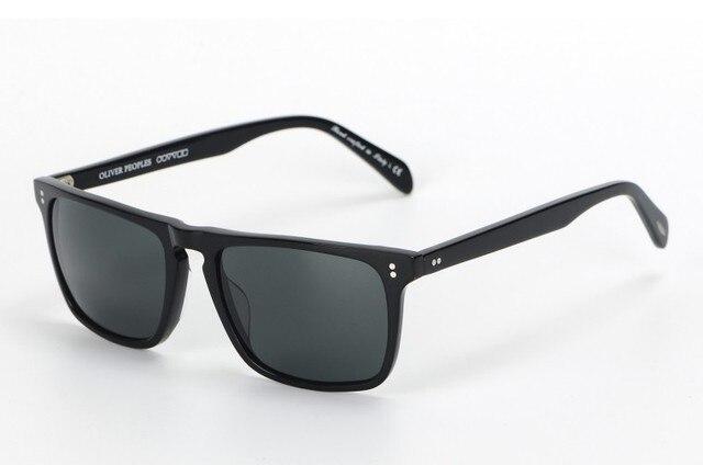 95d1eed653 Vintage Square Sunglasses oliver peoples OV5189 Bernardo Glasses lens  Acetate Material oculos de grau men eyewear frames