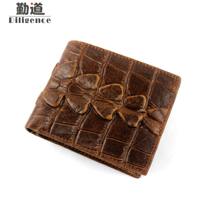 New Crocodile Embossed Split Leather Short Bifold Business Wallet Zipper Coin Pocket Purse for Men jeb myers evidence in child abuse and neglect