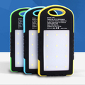 12000mAh Outdoor Portable Solar Power Bank with Dual USB Emergency External Battery Charger for Smartphones