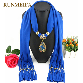 2018 Fashion Vintage Bohemian Big Resin Water Drop Pendant Solid Polyester Long Tassel Scarves Necklace for Women Jewelry scarf цена 2017