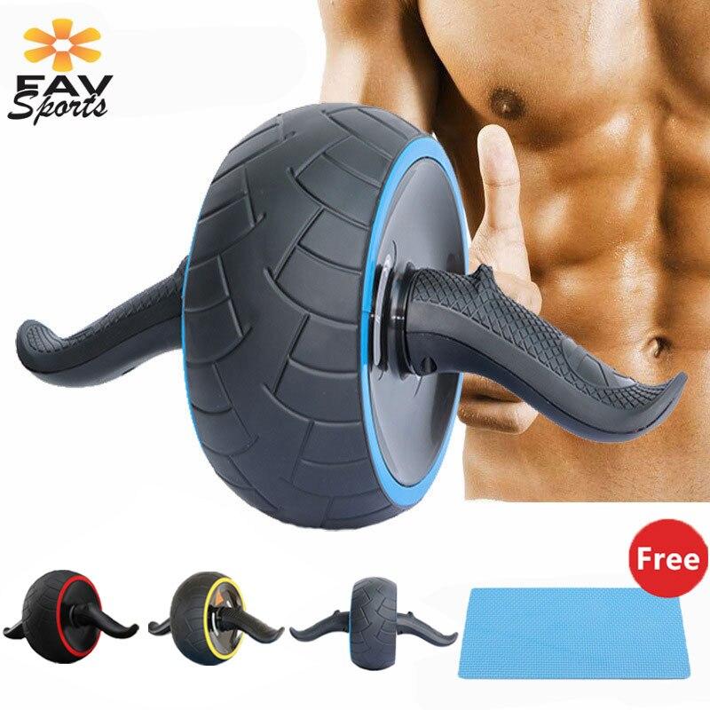 Favsports exercices Muscle Fitness abdominale roue AB rouleau avec cadeau tapis formateur bras jambe minceur Crossfit équipement de Fitness