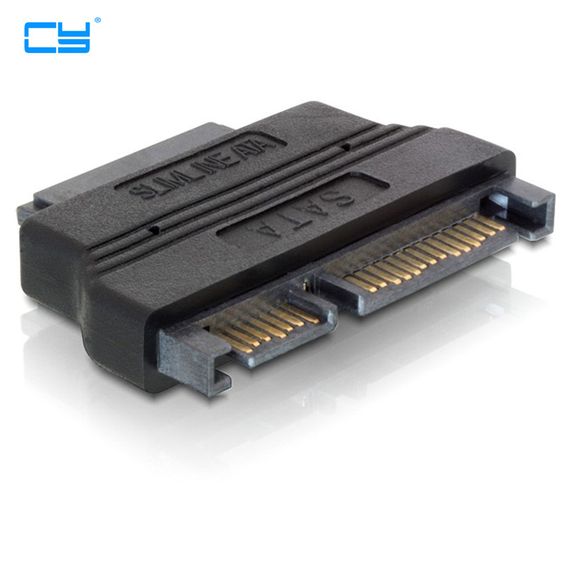 SATA 22pin Male to slimline SATA 13pin Female laptop CD-ROM convertor adapter image