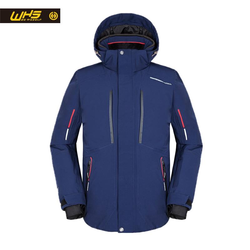WHS 2018 Nuovi uomini Outdoor Giacche Da Sci da uomo antivento Cappotto caldo uomini neve giacca Adolescente vestiti Sottili maschile Giacca Calda grande colore