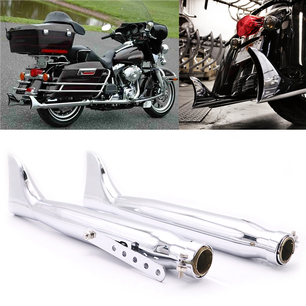 2Pcs Retro Motorcycle Fishtail Exhaust Silencer Mufflers Pipe For Harley Sportster XL883 1200 Cruiser Chopper Bobber Cafe Racer2Pcs Retro Motorcycle Fishtail Exhaust Silencer Mufflers Pipe For Harley Sportster XL883 1200 Cruiser Chopper Bobber Cafe Racer