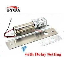 الكهربائية بولت قفل تأخير إعداد حرارة منخفضة dc 12 فولت المقاوم للصدأ الثقيلة مأمونيتها قطرة الباب الوصول الأمن