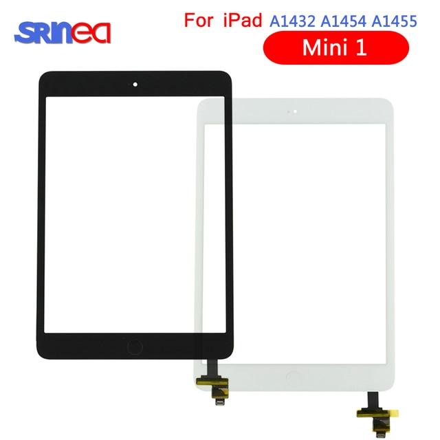 フルテストデジタイザアップルの iPad ミニ 1 A1432 A1454 A1455 フロントガラスレンズとホームボタン + IC