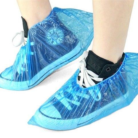 Schuhzubehör 100 Pcs Wasserdichte Überschuhe Einweg Kunststoff Schuhe Deckt Regnerischen Tag Teppich Boden Protector Starke Reinigung Schuhe Abdeckung #1023 Schuhüberzug
