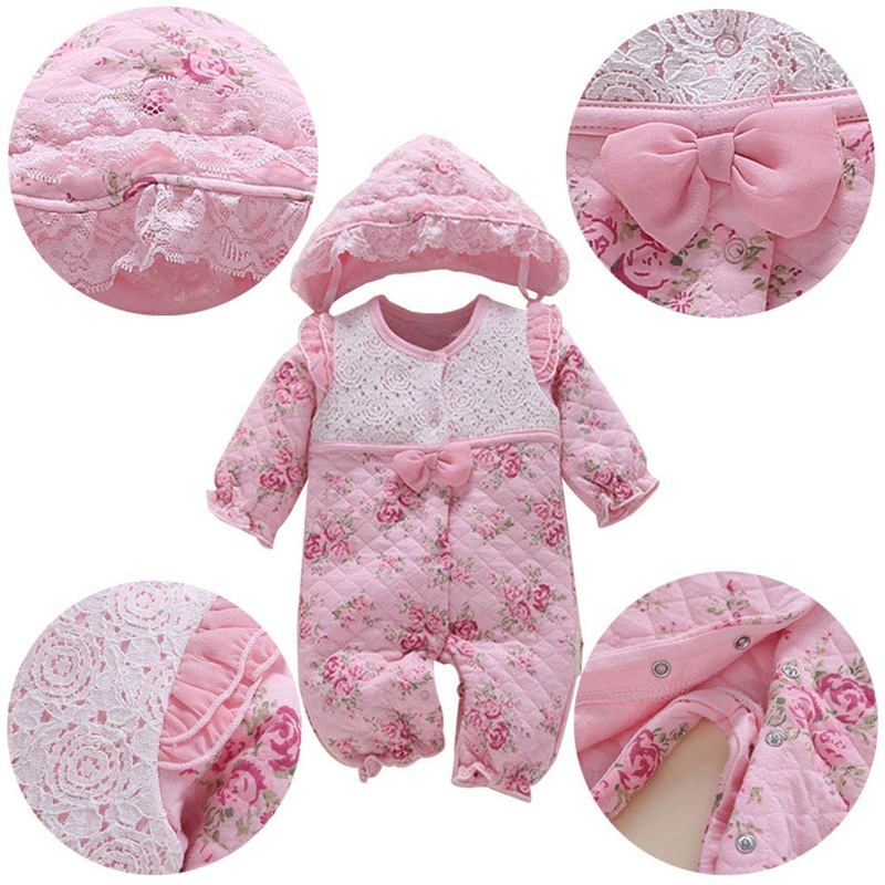 Baby Rompers Clothes Onesies Thicken Baby Newborn Clothes For Autumn/Winter
