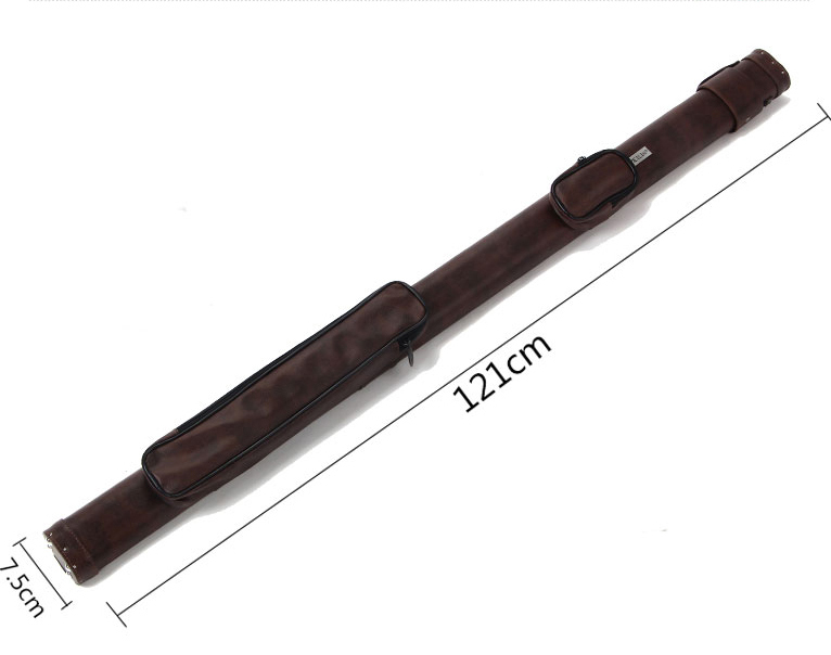 Durable Meilin 3/4 Snooker Cue 2 Holes Case Billiard Stick Carrying Case Supreme Cue Case Hand-woven Excellent Snooker Cue Case omin snooker cue model century dream union the top level 145cm length 10mm cue tip ash wood 3 4 handmade billiard stick page 9