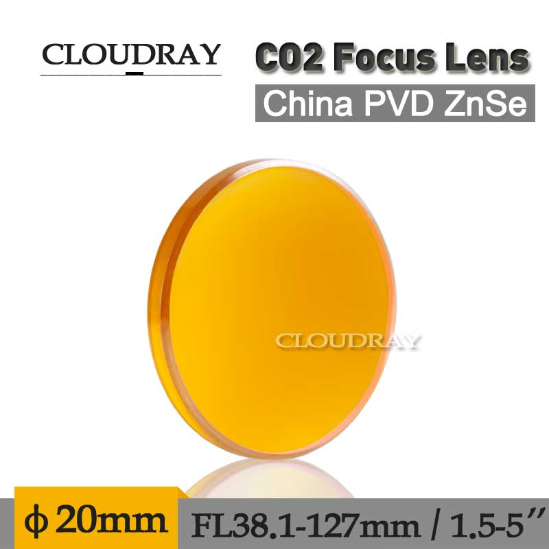 "Cloudray China Laser Lens ZnSe Focusing Lens Diameter 20mm Focal Length 50.8mm/2"" Focusing Lens For Laser Engraver"