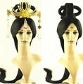 Dinastía han princesa peluca peluca de pelo chino antiguo chino antiguo cosplay del pelo largo pelucas de pelo negro