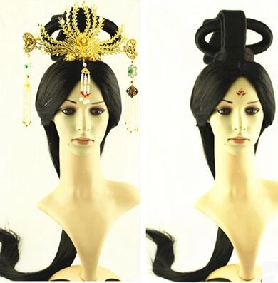 han dynasty hair chinese ancient princess hair ancient chinese hair cosplay long black hair