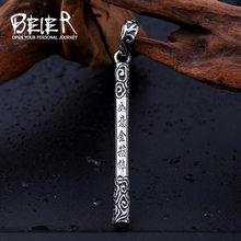 Beier new store 316L Stainless Steel pendant necklace golden cudgel pendant for men Fashion jewelry LLBP8-230R(China)