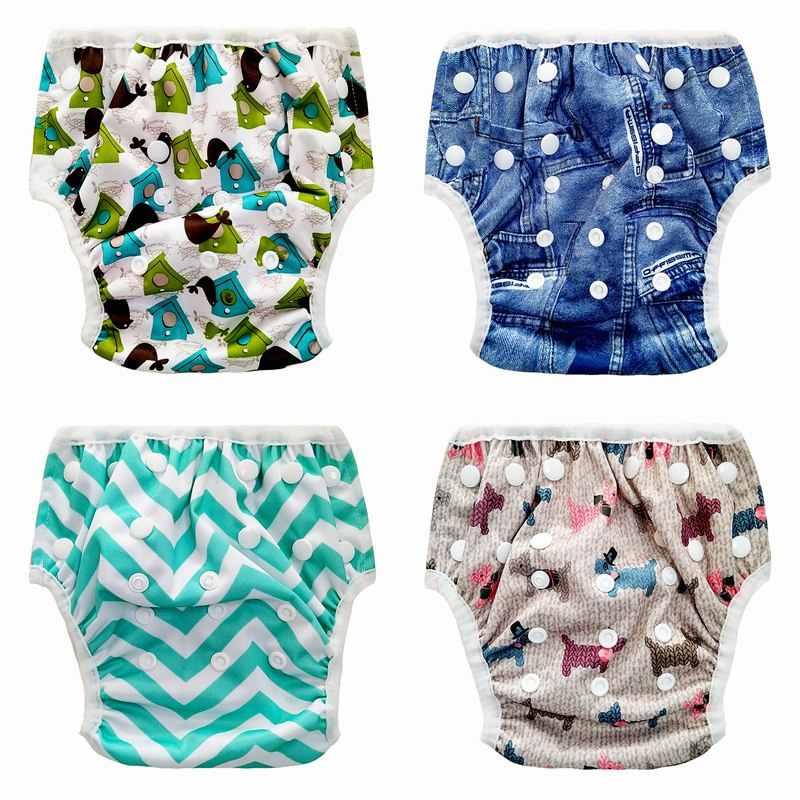 8c7a7561c6ff ... Bebé niño Niña Pantalones ajustable nadar pañal impermeable piscina  pantalón lavable reutilizable natación pantalones ajustable de ...