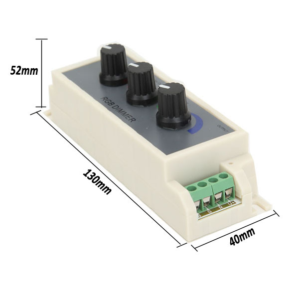 RGB Dimmer Stepless Adjustable Switch LED Strip Lights Controller DC 12-24V Three way switch
