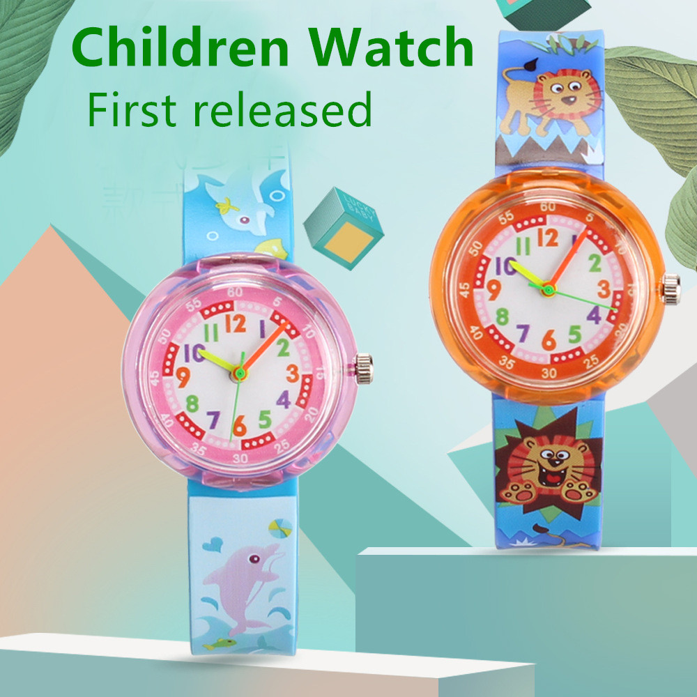 Casual Children's Watch Candy Multicolor Cartoon Animal Student Child Watch Girl Boy Clock Small Fresh Sister Cute Kids Watches