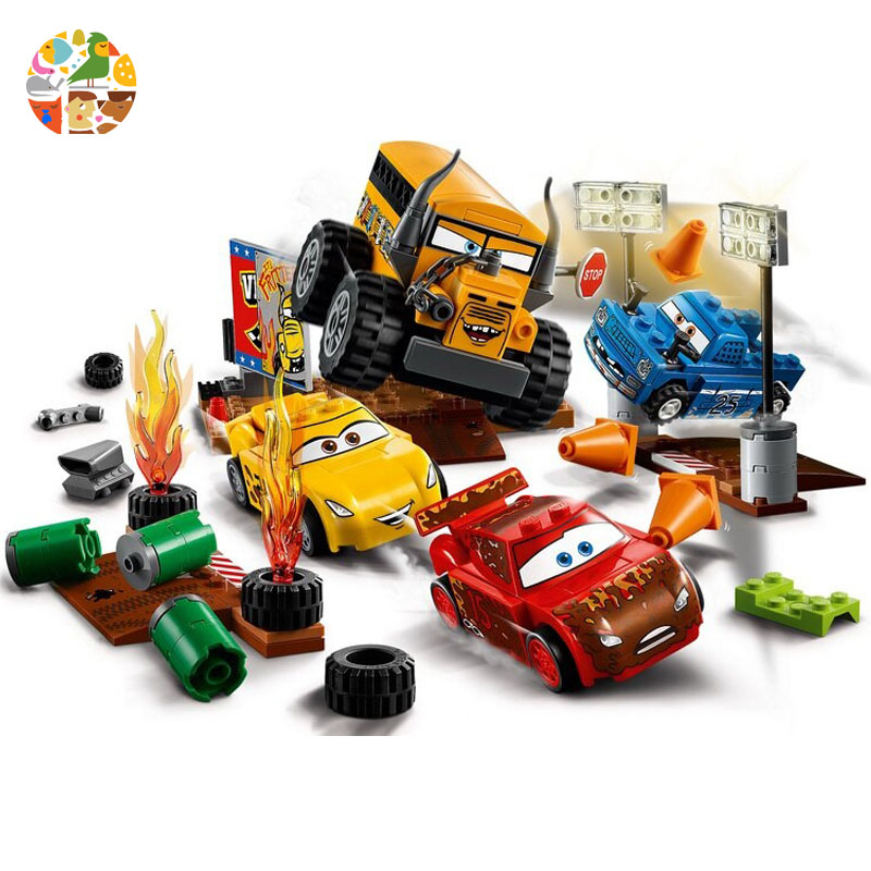 Legoing 10744 191Pcs Cars Movie Series Juniors Thunder Valley Race The Building Blocks Bricks Toys For Children Gift 10687