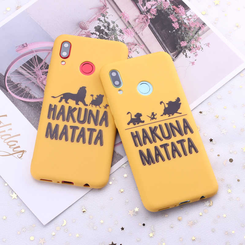 For Samsung S8 S9 S10 S10e Plus Note 8 Note 9 Hakuna Matata Lion King Candy Silicone Phone Case Cover Capa Fundas Coque
