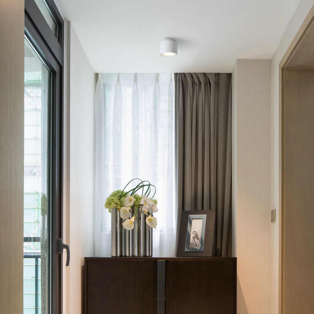 Aisilan поверхностного монтажа светодиодный светильник круглая лампа для гостиной, Спальня, Кухня, Ванная комната, коридор, AC 90 v-260 v