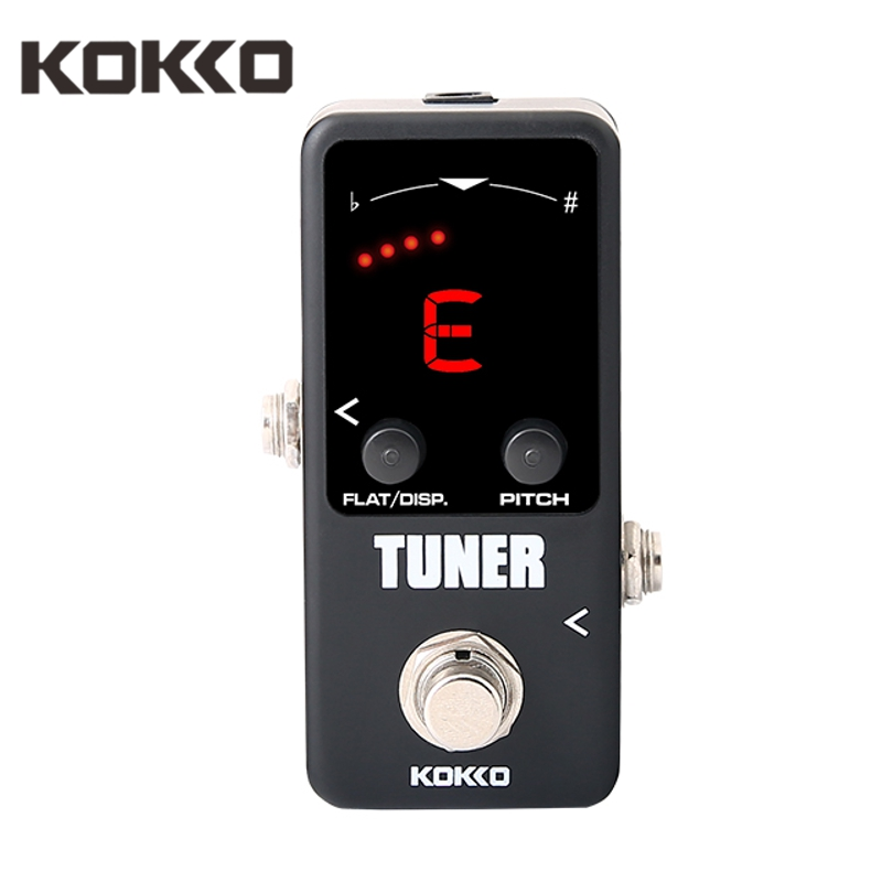 KOKKO FTN2 Guitar Mini Effects Pedal Tuner LED Display Tuner Pedal With Fast Stable And Accurate For Guitarra Ukelele Part