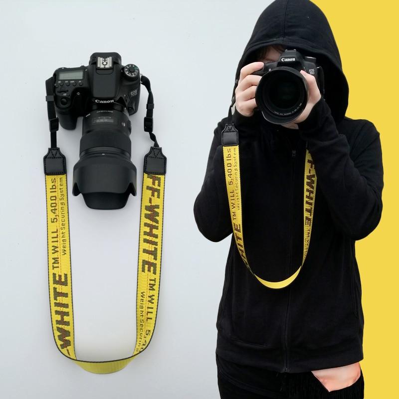 Cinghia Fotocamera REFLEX Fotocamera Digitale SLR Fotocamera Cinghie off-bianco con la Macchina Fotografica PER Canon Nikon Sony Fujifilm
