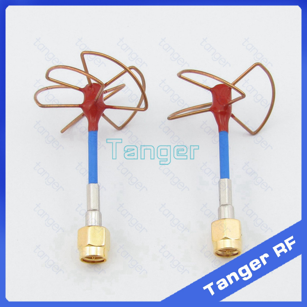 Tanger FPV Gain 5.8GHz Antenna A pair 3 5 Leaf Blade TX RX Circular Polarized Antenna with SMA male RG405 RG086 Blue Coax cable коринфар 10 мг 100 табл