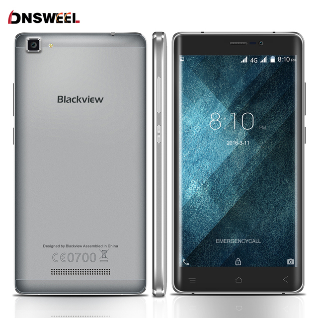 Original Blackview A8 Max Android 6.0 smartphone MT6737 Quad Core Mobile Phone 4G LTE 5.5 inch 2GB+16GB 8MP 3000mAh cell phone