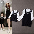 Family Matching Clothes For Mother and Daughter Dresses Sets Family Look Outfits Kid Mommy and Me Daughter Blouse Overalls GH201