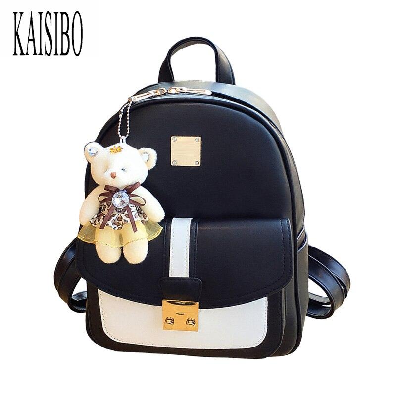 KAISIBO Fashion Women Mini Backpack Small PU Leather Backpacks School Bags Teenagers Girls Female Travel Backpack Mochilas keenici small women leather backpack for girls feminine knapsack school bags for teenagers rucksack mini backpacks rivet black