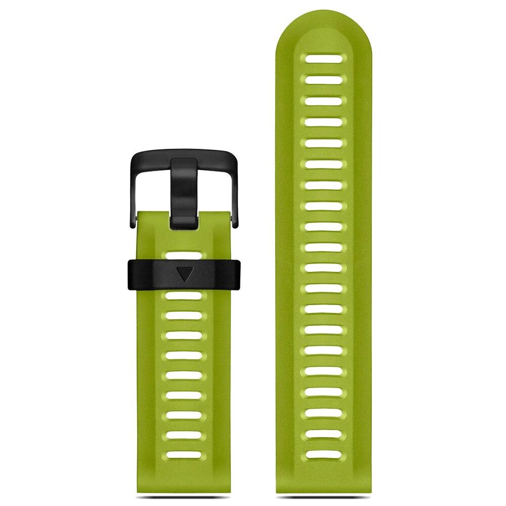 YCYS-For Garmin Fenix 3 HR Soft Silicone Strap Replacement Wrist Watch Band+Tool Kits Green детский самокат fenix cms031
