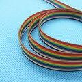 1 м/лот ленточный кабель 10 способ плоский кабель Цвет Радуга ленточный кабель провода Радужный кабель P мм 1,27 мм шаг - фото