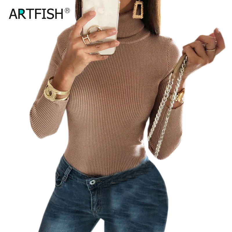 Romper   Knitted Long Sleeve Sexy Women Body Club Wear Khaki Bodysuits Turtleneck Jumper Female Skinny Tops Autumn Overalls M0286