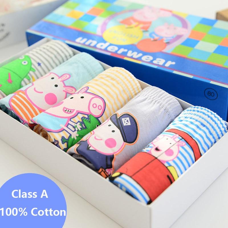 5pcs/lot 2T-10T Boys Underwear Peppa Pig Super Wings Children Clothes Cotton Kid Baby Briefs Panties underware High Quality kids