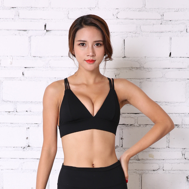 f1f4709b3f79a 2019 Sexy Anti Sweat Spaghetti Strap Sports Bra Women Push Up ...