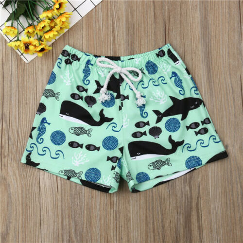 Beach-Shorts Swimming Baby-Boy Kids Summer Casual Sport Jogger Whale Bottoms Printed