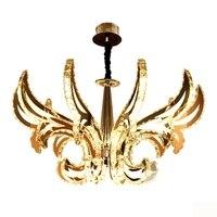 Личность Творческая Кристалл лампы светодио дный люстры с подвесками современной гостиной Ресторан зал висит осветительное оборудование