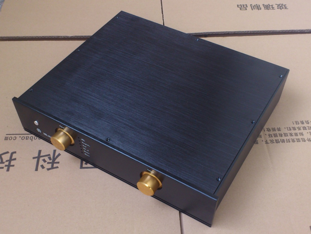 BZ4309J Black All Aluminum Amplifier Enclosure MBL Preamplifier Chassis Audio Power Amp Case DIY Box 430MM*90MM*360MM