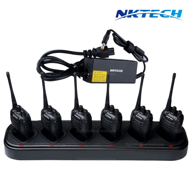 For Walkie Talkie Hot Sale Single-row Six/6-Way Universal Rapid Multi Charger For Walkie Talkie BaoFeng BF-888s Retevis H-777 oem 10 144 430 na 519 sma walkie talkie baofeng 5r px 888k tg uv2 uvd1p na 519 page 1