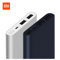 2018 Original Xiaomi Mi Power Bank 10000mAh Dual USB Output 18W Quick Charge Powerbank External Battery Pack Portable Charger