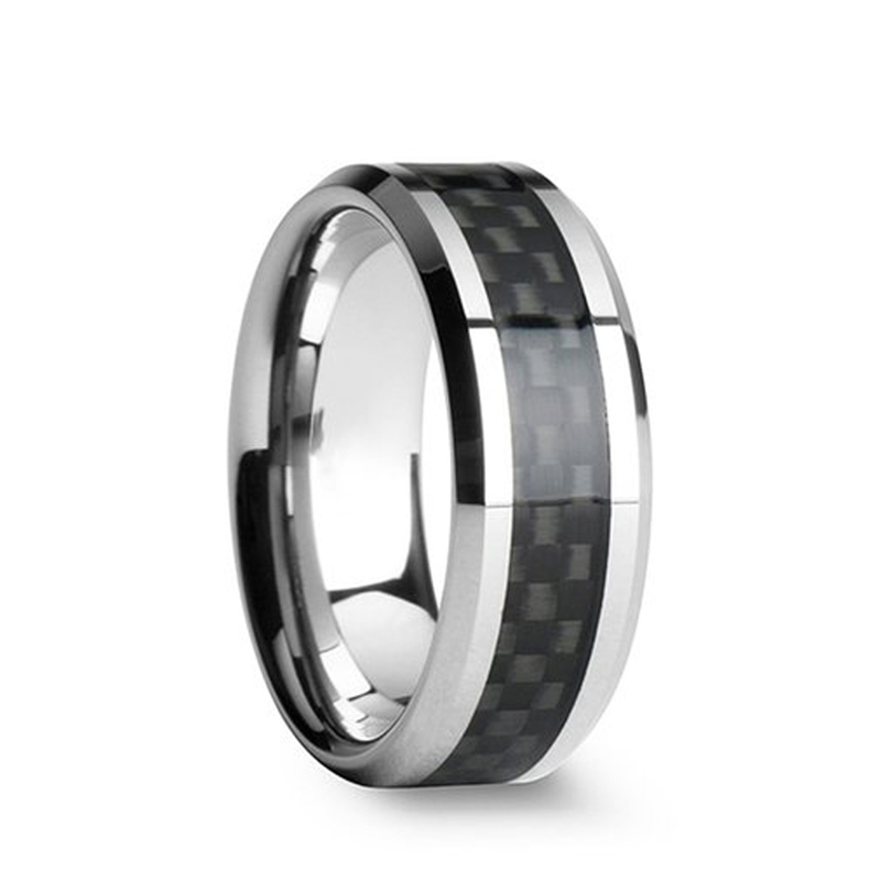 8MM Black Carbon Fiber Ring, Hot Slale in US RU AU Mens Tungsten Carbide Ring Wedding Band Alliance Jewelry Size 7 to 13-in Rings from Jewelry & Accessories on AliExpress
