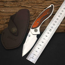 58-60HRC Folding Knife BUCK Survival Knifes 12C27M Steel Blade Pocket Hunting Tactical Knives Camping Outdoor EDC Tools X35