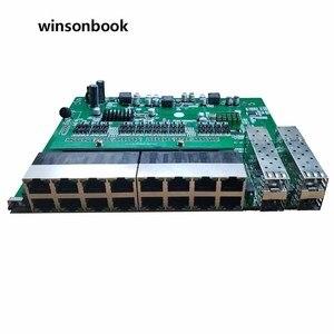 Image 1 - Commutateur PoE inverse 16x10 M/100 M PoE et 4SFP Port Gigabit Ethernet commutateur carte mère PCB
