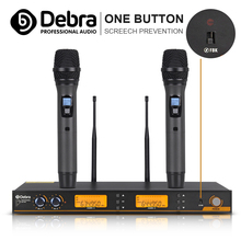 Debra S200 UHF Handheld Karaoke Microphone Wireless Professional System 2 Channel Frequency Adjustable Squealing prevention