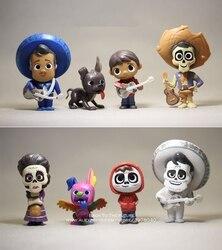 Disney coco filme 8 pçs/set 6-9cm figura de ação modelo anime mini decoração pvc coleção estatueta brinquedo modelo para crianças