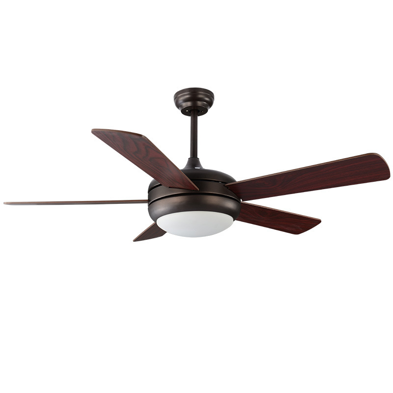 6 Leaves Ceiling Fan Modern Brown Ceiling Fans With Lights