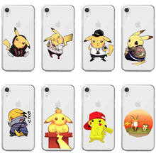 Pokemons Naruto Pikachus Soft Silicone TPU Phone Back Cover Case for iPhone 11 Pro MAX 2019 6 7 8Plus MAX XR XS 10 SE 5 5S 6 7 8(China)
